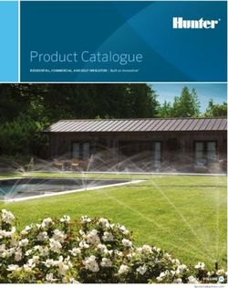 Hunter Product Catalogue RESIDENTIAL, COMMERCIAL, AND GOLF IRRIGATION