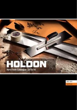 Holdon Hand Tools Catalogue 2015/16