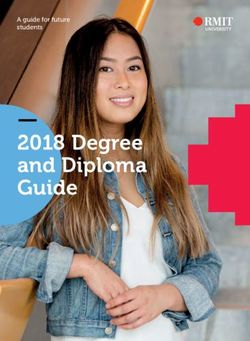 2018 Degree and Diploma Guide A guide for future students