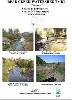 Bear creek watershed tmdl chapter i section 1: introduction section 2: temperature