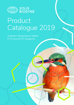 SOLIS BIODYNE - Product Catalogue 2019