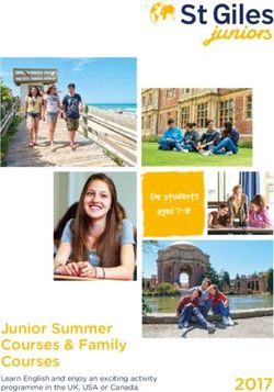 Junior Summer Courses & Family Courses 2017 - St Giles Juniors