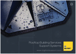 Rooftop Building Services Support Systems. Big Foot Systems.