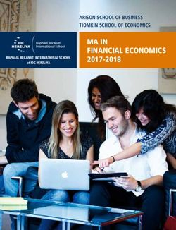 MA in Financial Economics 2017-2018 - Arison School of Business Tiomkin School of Economics
