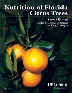 Nutrition of Florida Citrus Trees Second Edition Edited by Thomas A. Obreza and Kelly T. Morgan