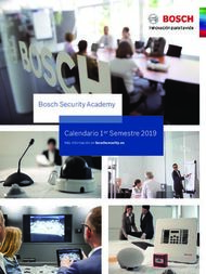 Bosch Security Academy Calendario 1er Semestre 2019 - Más ...