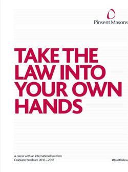 Take the Law Into Your Own Hands - Pinsent Masons Graduate Brochure 2017