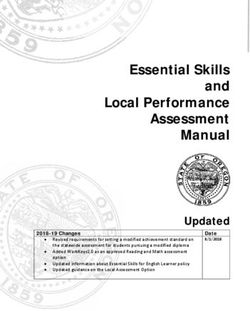 Essential Skills and Local Performance Assessment Manual