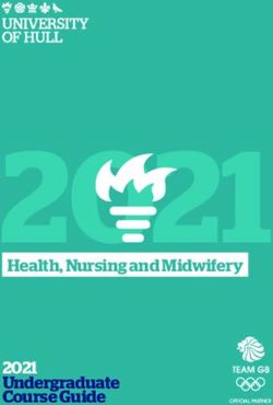 Health, Nursing and Midwifery - 2021 Undergraduate Course Guide - UNIVERSITY OF HULL
