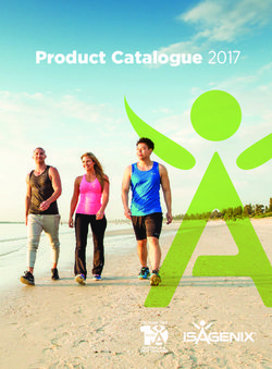 Isagenix - Product Catalogue 2017