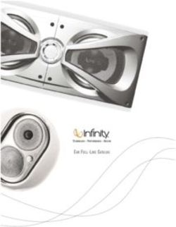 Infinity Car Full Line Catalog 2009
