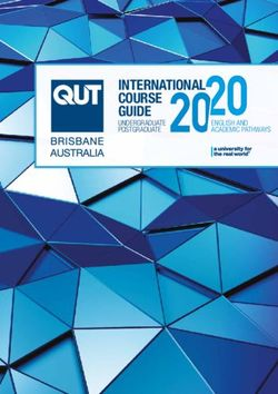 INTERNATIONAL COURSE GUIDE 2020 - Queensland University of Technology