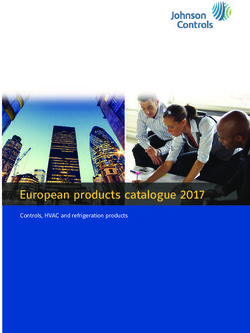 Johnson Controls - European products catalogue 2017
