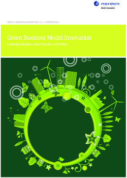 Green Business Model Innovation Conceptualisation, Next Practice and Policy