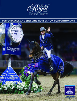 PERFORMANCE AND BREEDING HORSE SHOW COMPETITION 2018