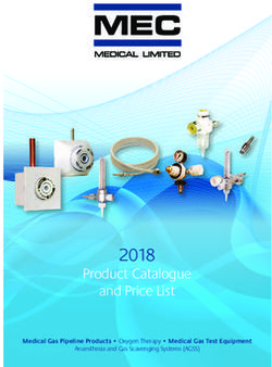 MEC 2018 Product Catalogue and Price List
