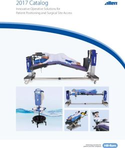 Innovative Operative Solutions for Patient Positioning and Surgical Site Access - Allen 2017 Catalog
