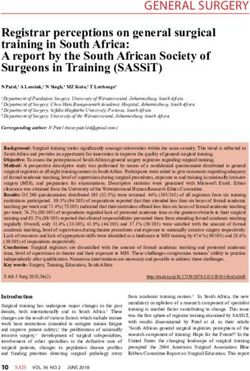 REGISTRAR PERCEPTIONS ON GENERAL SURGICAL TRAINING IN SOUTH AFRICA: A REPORT BY THE SOUTH AFRICAN SOCIETY OF SURGEONS IN TRAINING (SASSIT)