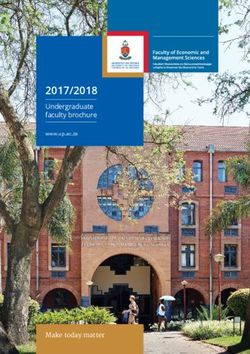 Faculty of Economic and Management Sciences 2017/2018 - University of Pretoria
