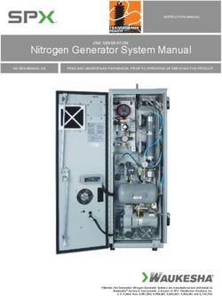 Nitrogen Generator System Manual 2ND GENERATION