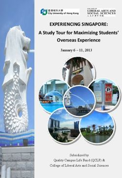 Experiencing singapore: a study tour for maximizing students'