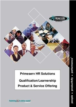 Primeserv HR Solutions Qualification/Learnership Product & Service Offering