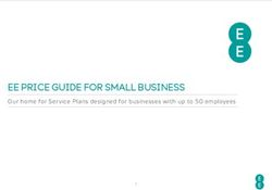 EE PRICE GUIDE FOR SMALL BUSINESS Our home for Service Plans designed for businesses with up to 50 employees