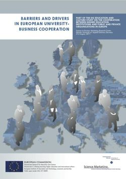 BARRIERS AND DRIVERS IN EUROPEAN UNIVERSITY-BUSINESS COOPERATION