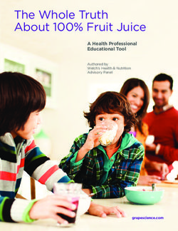 The Whole Truth About 100% Fruit Juice A Health Professional Educational Tool