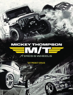 Mickey Thompson M/T Tires & Wheels 2017 Product Catalog