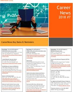 CAREER NEWS 2018 #7 CAREERNEWS KEY DATES & REMINDERS