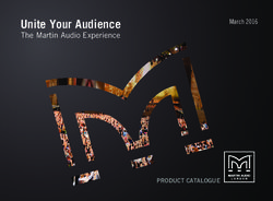 The Martin Audio Experience. Product Catalogue 2016.
