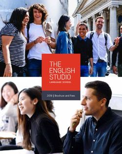 The English Studio Language School 2018 Brochure and Fees