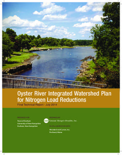 Oyster River Integrated Watershed Plan for Nitrogen Load Reductions