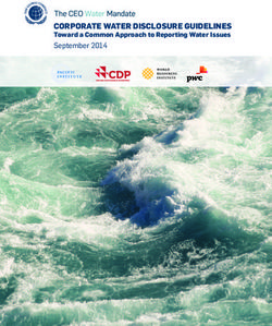 Corporate Water DisClosure GuiDelines September 2014 toward a Common approach to reporting Water issues