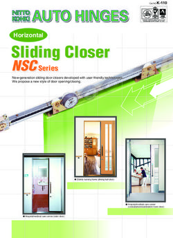 Sliding Closer NSC Series Horizontal