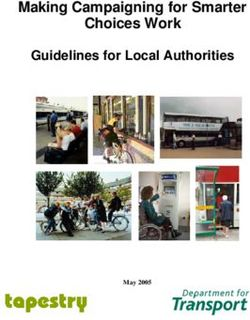 Making Campaigning for Smarter Choices Work Guidelines for Local Authorities