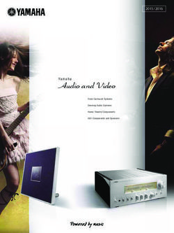 Yamaha Audio and Video. Product Catalogue 2015/2016.
